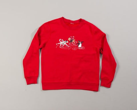 Ice Skating Pets-Medium Christmas Sweater