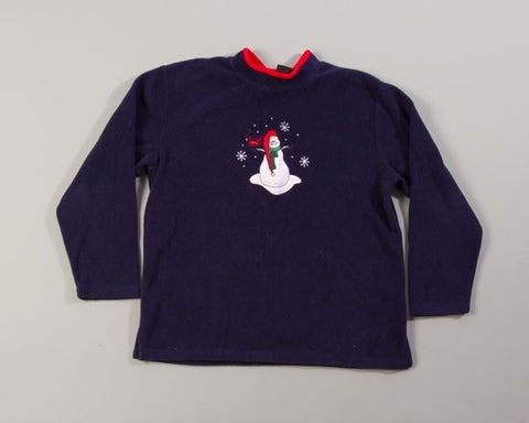 Snowman With A Red Hat-Large Christmas Sweater