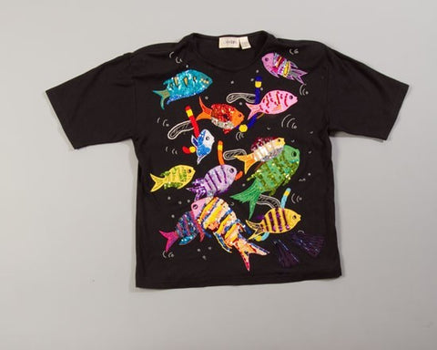 School Of Fish-Large Christmas Sweater