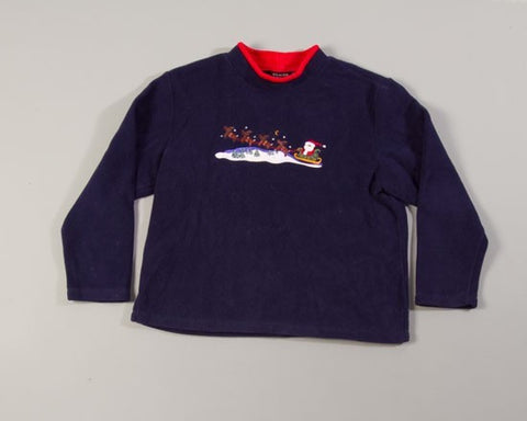 Santa Takes Flight-Large Christmas Sweater