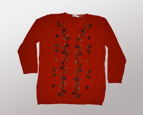 Floral Patterns-Medium Christmas Sweater