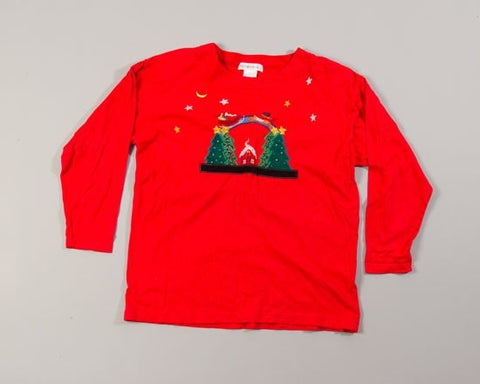 Santa Flys-Large Christmas Sweater