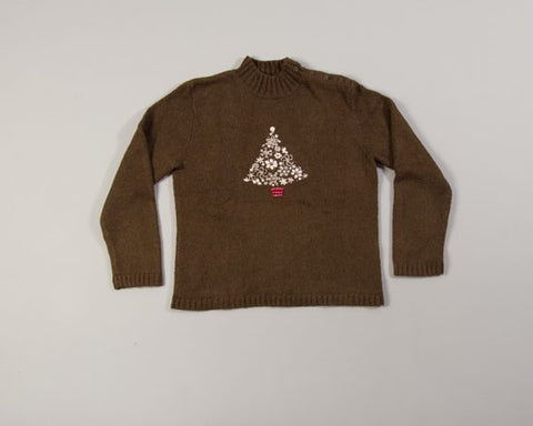 White Christmas Tree-X-Small Christmas Sweater