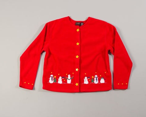 Snowman Friends-Large Christmas Sweater