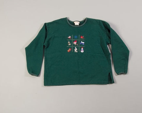Winter Tic Tac Toe-Large Christmas Sweater