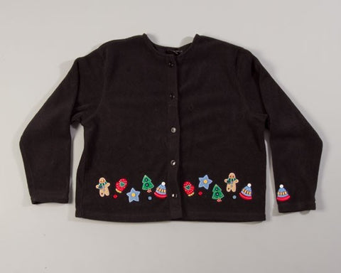 Mittens, Hats, Gingerbread Man-Large Christmas Sweater
