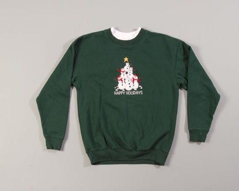 Snowman Pyramid-Small Christmas Sweater
