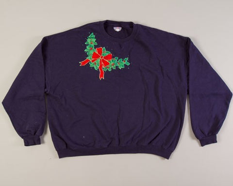 Glittery Holly-XX-Large Christmas Sweater+
