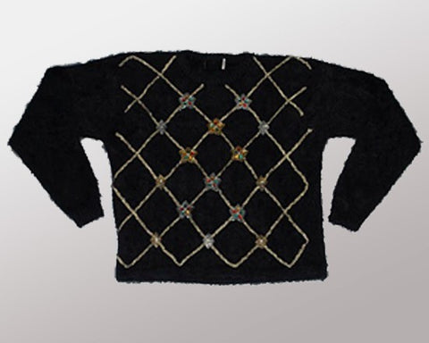 Fuzzy Vintage-X-Small Christmas Sweater