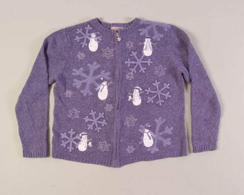 Flakey Snowmen-Small Christmas Sweater