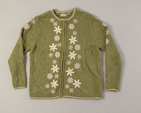 Snowflakes Gently Falling-Medium Christmas Sweater