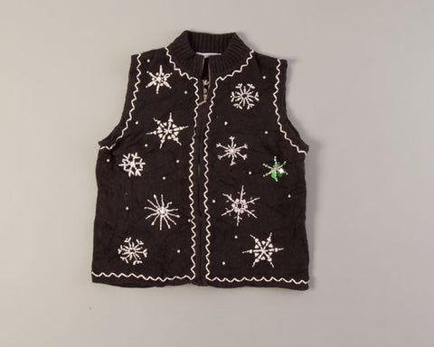 Snowflakes at Night-Small Christmas Sweater