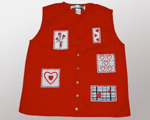 Heart Stamps-Small Christmas Sweater