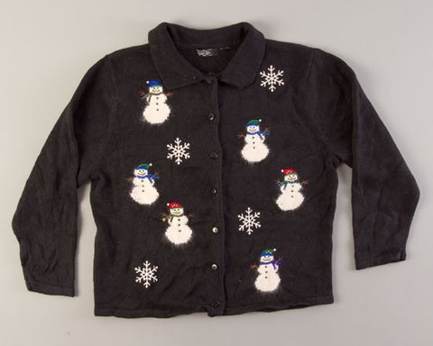 Six Snowmen-Medium Christmas Sweater