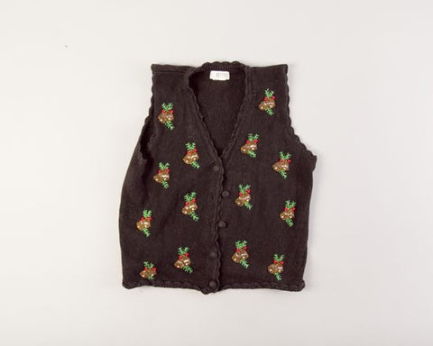 Bells and Floral-Small Christmas Sweater