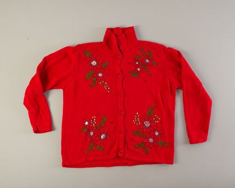 Four Floral-Medium Christmas Sweater
