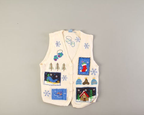 Patches of Winter-Small Christmas Sweater