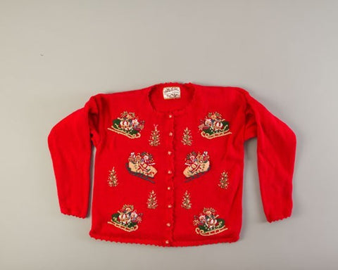 Santa's Sleighs-Small Christmas Sweater