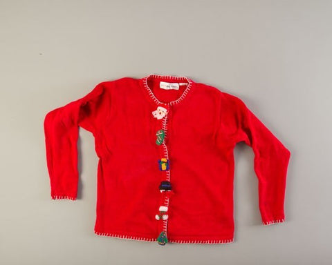 Santa Buttons-Small Christmas Sweater
