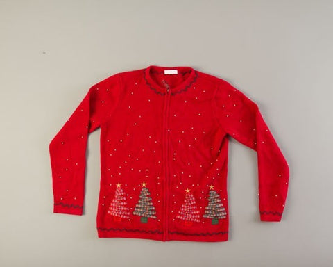 Four Standing Trees-Small Christmas Sweater