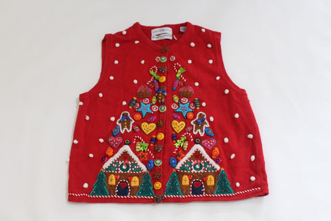 Wow! Look at all the candy!  Small, Christmas sweater
