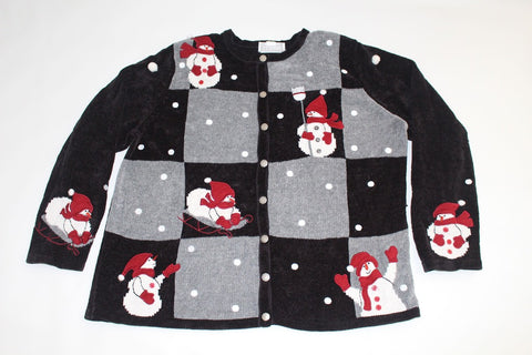 Checkers anyone?  Large, Christmas sweater