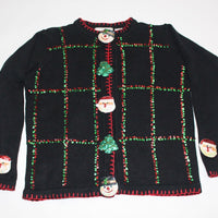 Fancy Santa and Snowmen Faces, Small,  Christmas sweater