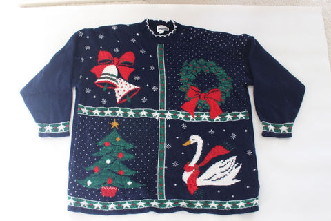 It's a 4 Square Christmas!  XX Large, Christmas sweater
