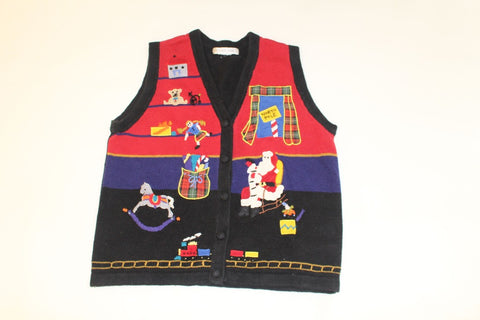 Santa's Toy Shop, Small, Christmas sweater