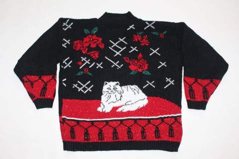 Pretty Kitty!  Small, Christmas sweater
