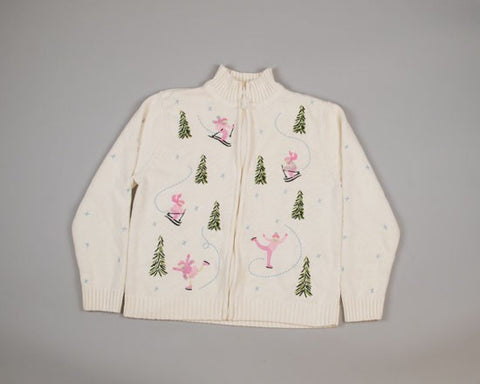 Pink Rules!-Small Christmas Sweater