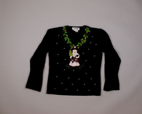 Santa in a Dress?-X-Small Christmas Sweater