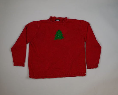 Lonesome Little tree-Large Christmas Sweater