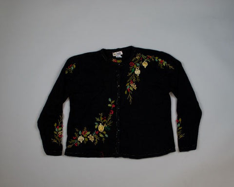 Fantastic Floral-Medium Christmas Sweater