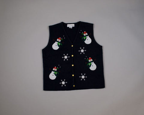 Happy Dancing Snowmen-Small Christmas Sweater