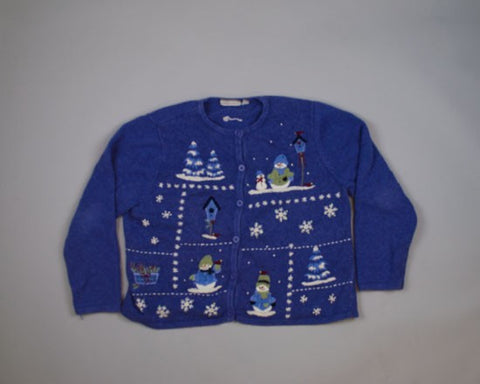 Winter Snowmen-Medium Christmas Sweater