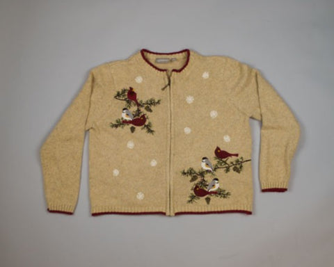 Winter Birds-Medium Christmas Sweater