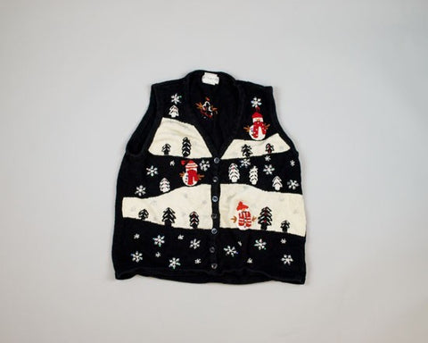 Rows of Snowmen-Small Christmas Sweater