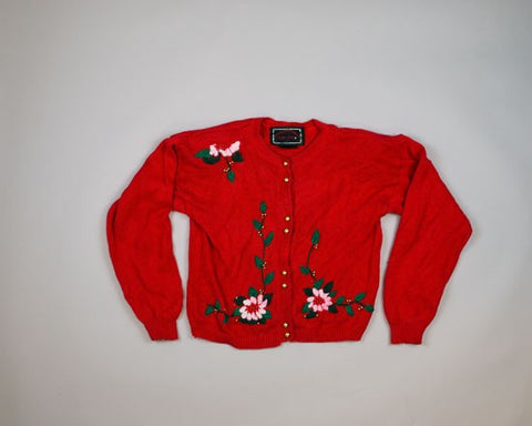 Simple Christmas Floral-Small Christmas Sweater