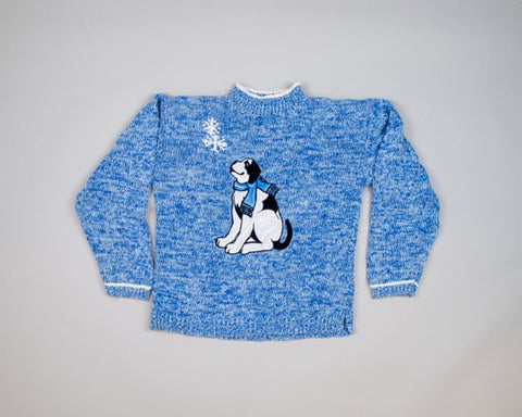 Winter Puppy-Kids Christmas Sweater