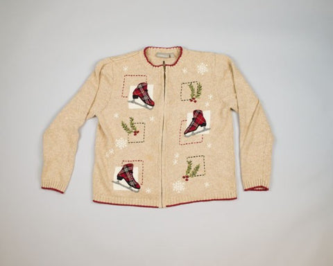 Three Ice Skates-Medium Christmas Sweater