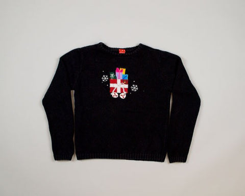 Gifts In The Middle-X-Small Christmas Sweater
