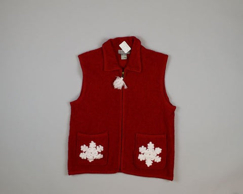 Two Snowflakes-Small Christmas Sweater