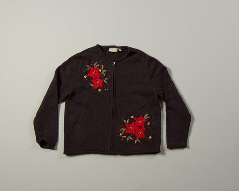 On..Poinsettia-Small Christmas Sweater