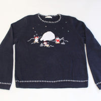 Penquins fishing,  X Small, Christmas sweater