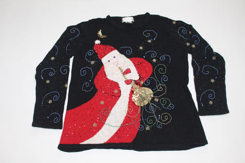 Musical Santa, Small, Christmas sweater