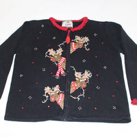 Peek a-Boo Reindeer,  Large, Christmas sweater