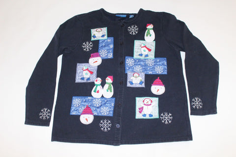 Snowmen and Snowflakes,  Small,  Christmas sweater