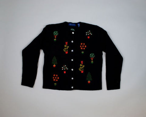 Potted Christmas Plants-Small Christmas Sweater