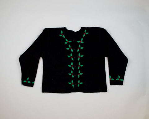 Holly Cow-Medium Christmas Sweater